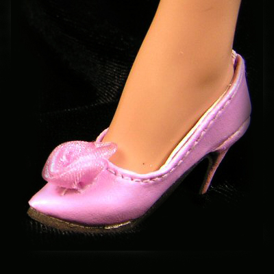 """Sybarite Doll Shoes Monique Gold 48mm DARK PINK  /""""My Fair Lady/"""" for Tyler"""