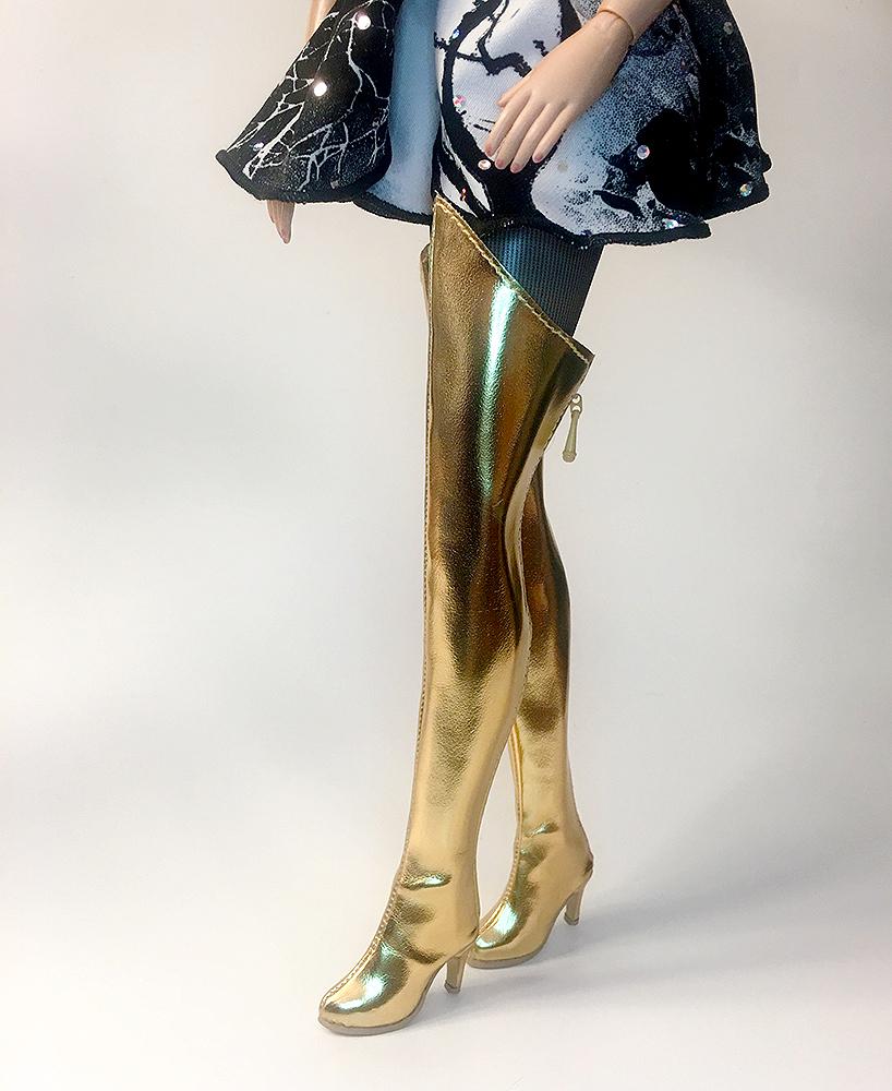 cb512de5abc Gold Thigh High Boots