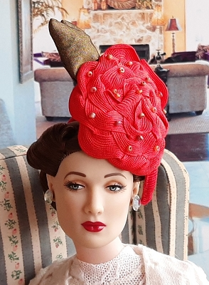 A Rosy Giant (Hats by Gudrun)
