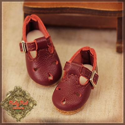 Red Leather Shoes by Ruby Red