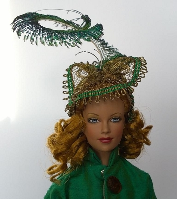 Kiss the Peacock (Hats by Gudrun)
