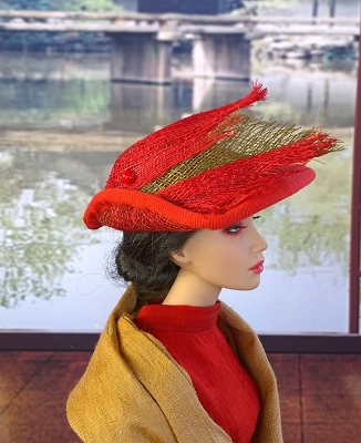 Red Parrot (Hats by Gudrun)