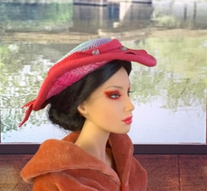 Tear of a Rose (Hats by Gudrun)