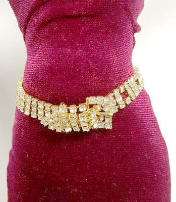 Rhinestone Buckle Belt (Medium)