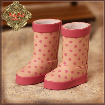 Pink Rain Boots by Ruby Red