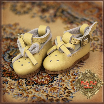 Yellow Leather Shoes by Ruby Red