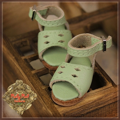 Green Flat Sandals by Ruby Red