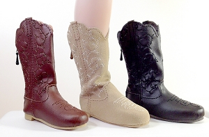 Embroidered Cowboy Boots (For Athletic)