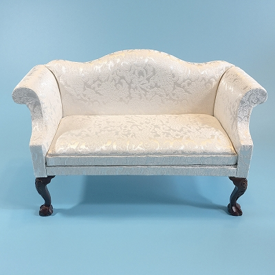 White Damask Sofa