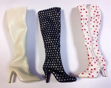 Knee High Zip Up Boots (For American Model)