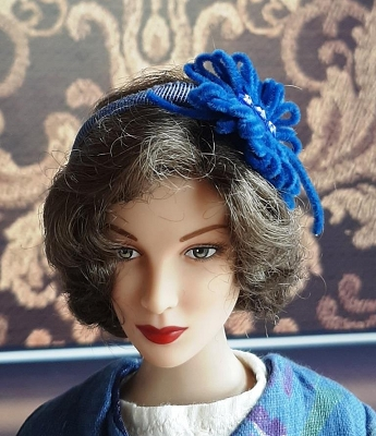 Blue Velvet (Hats by Gudrun)