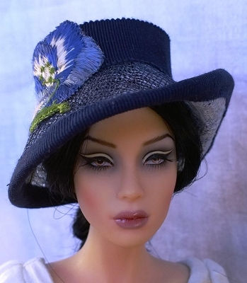 Cool Blue Shadow (Hats by Gudrun)