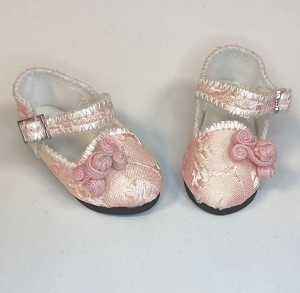Pink Brocade Shoes by Ruby Red (Fashion Friends)