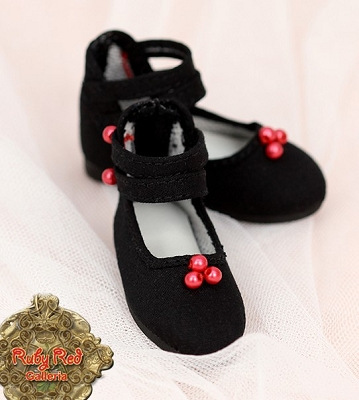 Black Ankle Straps by Ruby Red (Fashion Friends)