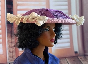 Violets and Old Lace (Hats by Gudrun)