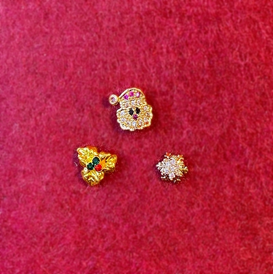Christmas Brooch Trio (Tiny)