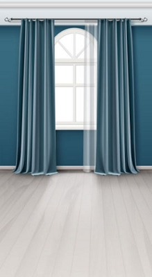 Blue Curtains (Photo Backdrop)