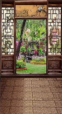 Chinese Doorway View (Photo Backdrop)