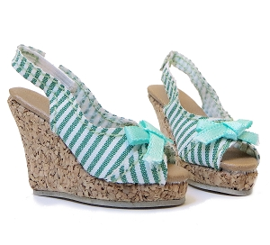 Cork Wedge Heels (For 16