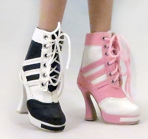Calf High Sneaker Boots (For Ellowyne)