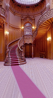 Ornate Wood Staircase (Photo Backdrop)