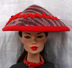Red Zebra (Hats by Gudrun)