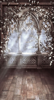 White Gothic Arch (Photo Backdrop)
