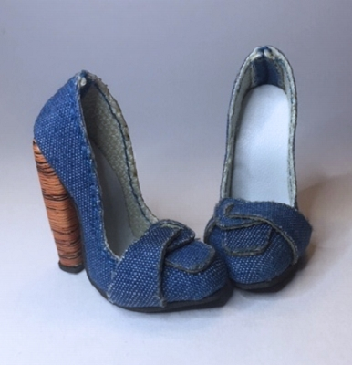 Thick Heel Loafer (Extreme High Heel)