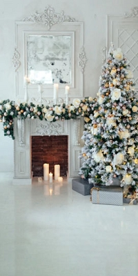 White Christmas Room (Photo Backdrop)