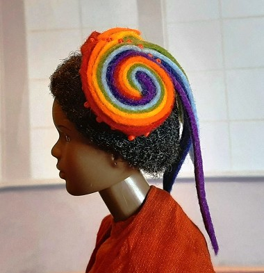 Big Rainbow Lollipop (Hats by Gudrun)