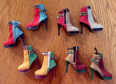 Color Block Ankle Boots (For Ellowyne)